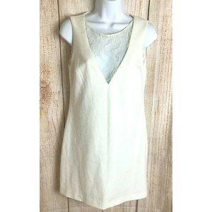 Zara Trafaluc Ivory Bodycon Shift Dress Sz 5 Lace